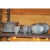 Set of Fire King dishes - Grey Luster