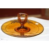 Silver outlay cake plate, Amber