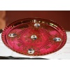 Cranberry Plate - Gold Trim - France
